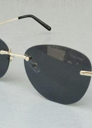 Chopard очки женские солнцезащитные черные безоправные