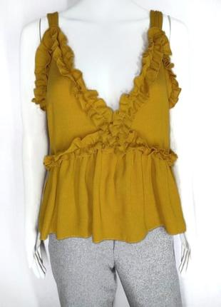 🛍️ super sale -50%🛍️ горчичный топ блуза  от shein size m