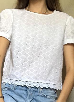 Блуза футболка h&m шитье