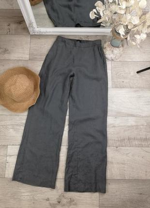 Брендовые льняные стильные брюки свободного кроя john lewis 42% лен