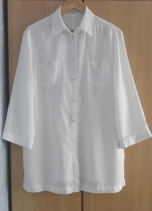 Супер брендовая рубашка блуза блузка лен