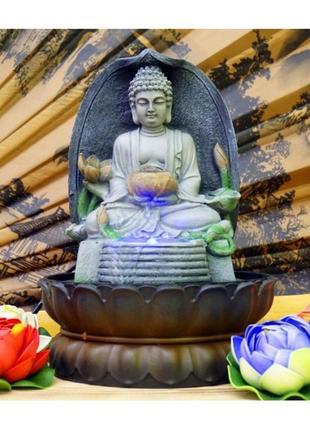 Статуэтка фонтан декоративный комнатный будда -2