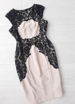 Плаття сукня з гіпюром вечернее платье с кружевом lipsy london
