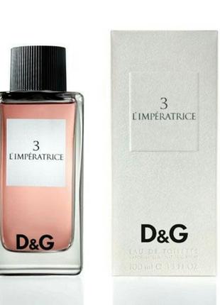 Женская парфюмированная вода dolce & gabbana 3 l`imperatrice 100 мл2 фото