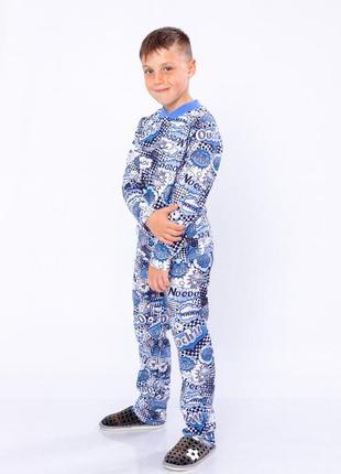 Пижама для мальчика на 2 кнопках  ассорти