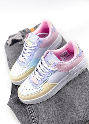 Рр 36-41. разноцветные белые кроссовки