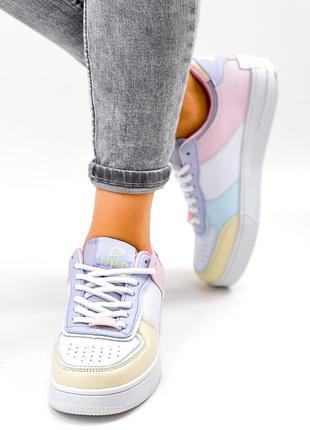 Рр 36-41. разноцветные белые кроссовки9 фото