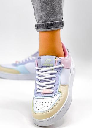 Рр 36-41. разноцветные белые кроссовки6 фото
