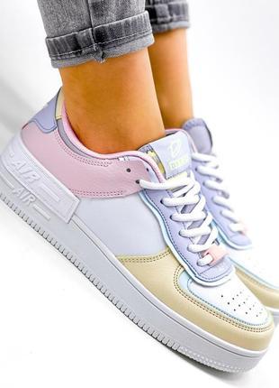 Рр 36-41. разноцветные белые кроссовки7 фото