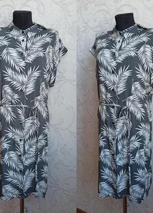 Платье в тропический принт primark