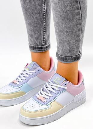 Рр 36-41. разноцветные белые кроссовки3 фото