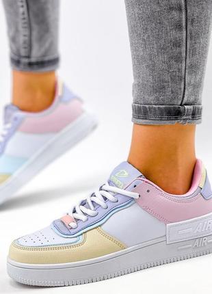 Рр 36-41. разноцветные белые кроссовки8 фото