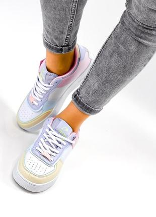 Рр 36-41. разноцветные белые кроссовки10 фото