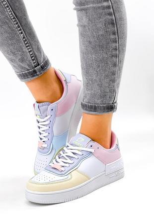 Рр 36-41. разноцветные белые кроссовки2 фото