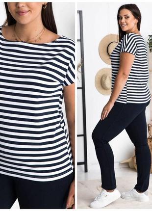 💥снова в наличии💥 мод: 248 футболка plus size