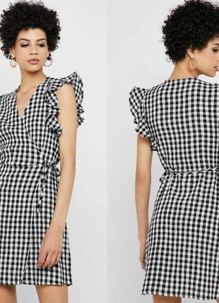 Платье сарафан в клетку topshop