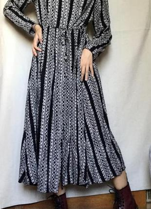 Платье макси вискоза хлопок