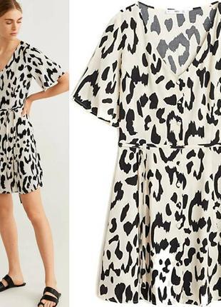 Платье в леопардовый принт mango