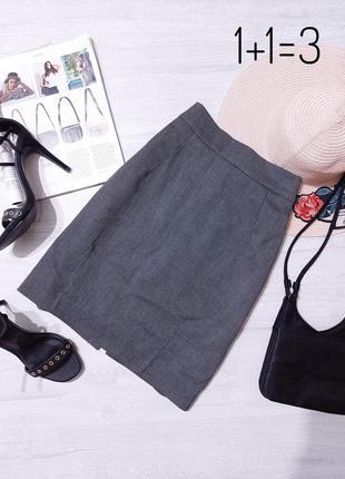 H&m базовая классическая юбка s-m на талию карандаш прямая строгая короткая мини классика