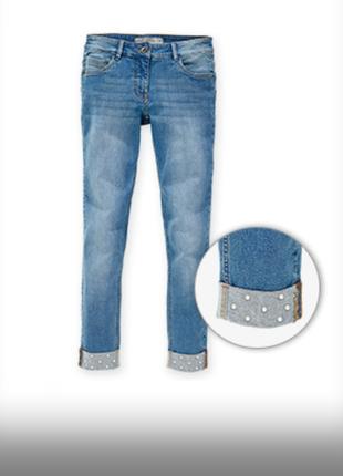Укороченные джинсы с жемчугом blue motion германия