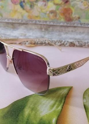 Эксклюзивные шикарные брендовые солнцезащитные женские  солнцезащитные очки 2021 в металлической оправе