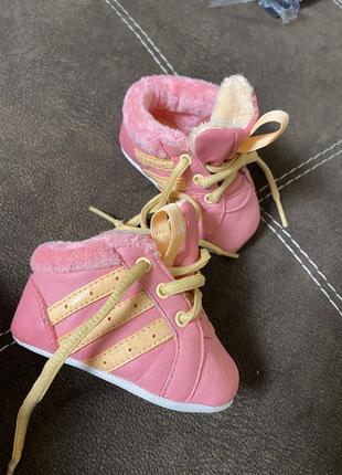 Пинетки кроссовки кеды первая обувь adidas 17