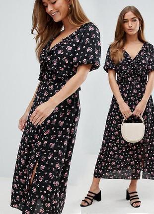 Платье миди цветочный принт asos