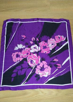 Винтажный платок из натурального шелка