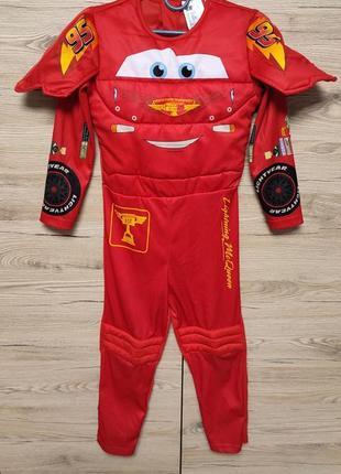 Детский уостюм макквин, тачки, тачка, машина, машинка, гонщик на 4, 5-6 лет