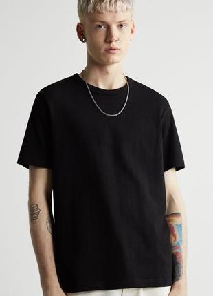 Базовая футболка из плотной ткани zara, майка, поло, рубашка