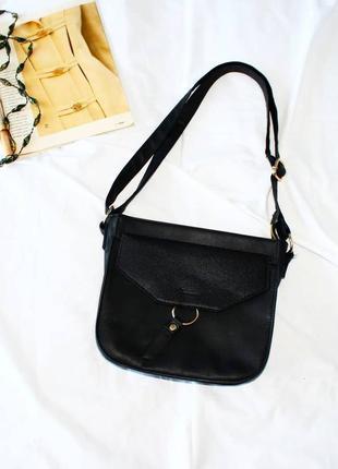 Черная сумка с длинным ремешком tu