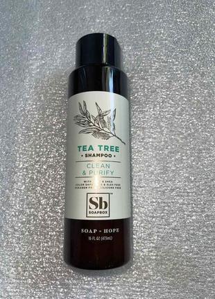 Безсульфатный шампунь с маслом чайного дерева soapbox сша