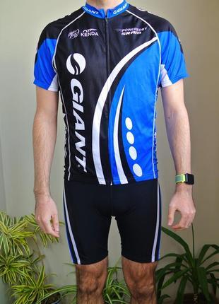 Велокомплект giant - футболка + шорти/ вело комплект, вело костюм
