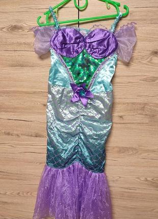 Детский костюм, платье русалочка, русалка, ариэль, ариель на 5-6 лет