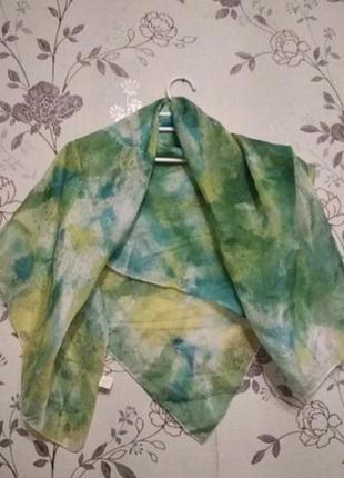 Яркие цвета! шёлковый платок