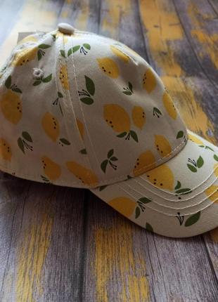 """Кепка для девочки """"лимоны"""" kiabi, (49-50 см)"""