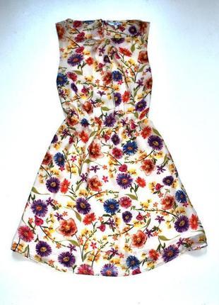 Sale new look красивое шифоновое платье в цветы.л.12.40