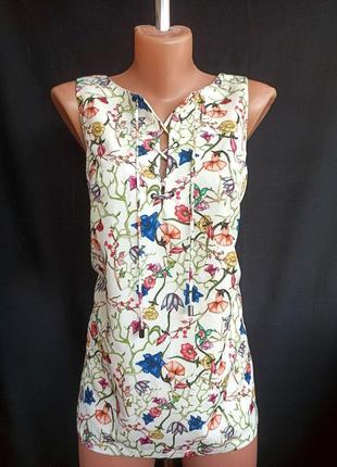 Распродажа! трендовая цветочная удлиненная майка с шнуровкой ровного кроя, платье, туника