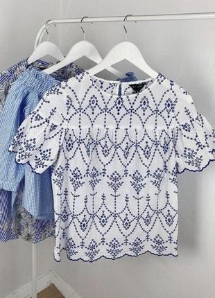 Прекрасная котоновая блуза  new look