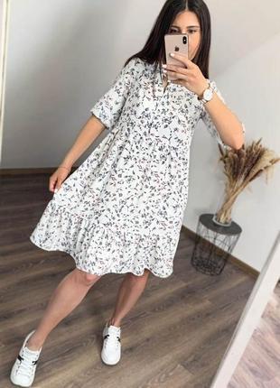 Стильное свободное платье