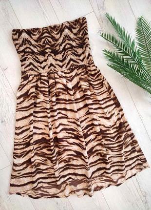 Тигрове плаття на резинці