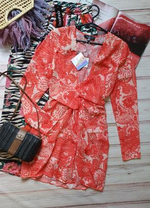 Летнее шифоновое платье с рукавами