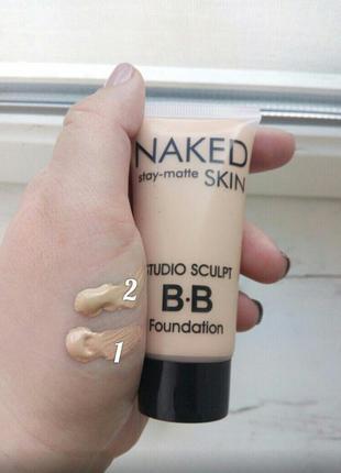 Тональный крем naked stay-matte skin bb