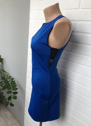 Синее платье с вырезом по бокам / синя сукня