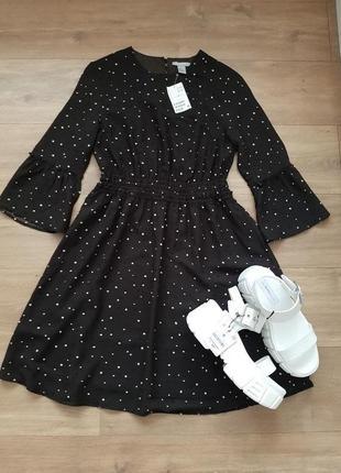 Стильное платье в горошек h&m