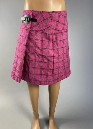 Юбка розовая laura ashley, шерстяная