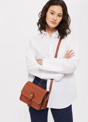 Новая кожаная сумка через плечо topshop osman leather vintage crossbody bag