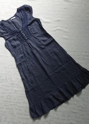 Актуальное льняное платье made in italy, легкое платье, сзади на завязках #100%лен#