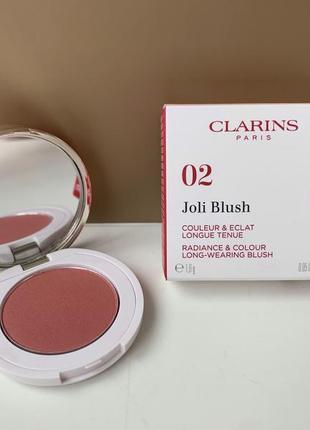 Румяна clarins joli blush 02 мини