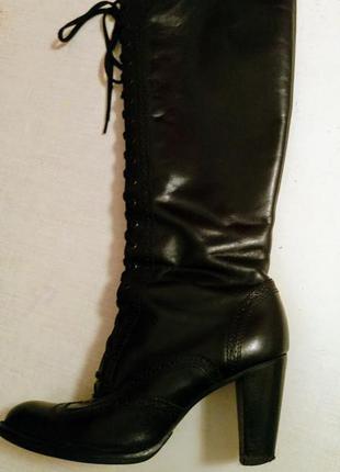 Сапоги кожаные, осенние, 39р, б/у